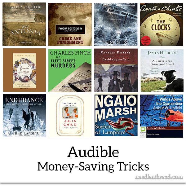 Audible Money-Saving Tricks for Stitchers who Listen