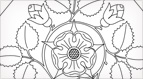 Rose Tile with Buds Embroidery Pattern