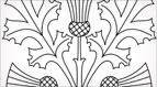 Stylized Thistle Embroidery Pattern