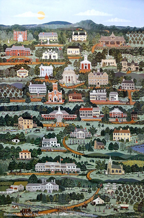 Shenandoah Valley Tapestry Project - Original Painting as inspiration