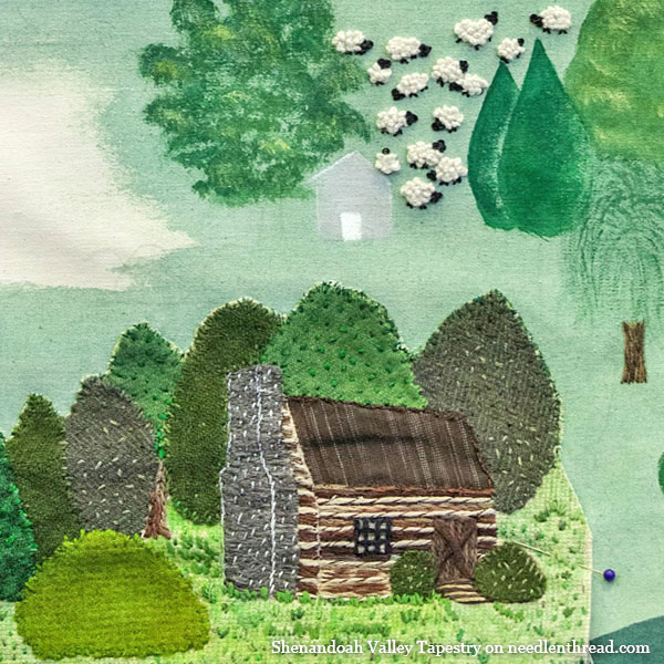 Shenandoah Valley Tapestry: Log Cabin