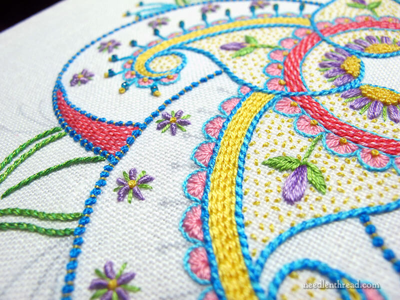 Embroidery Stitch Tips: Chain Stitch Points & Order of Stitching