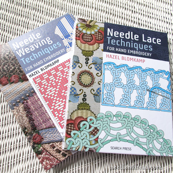 Needle weaving and needle lace techniques
