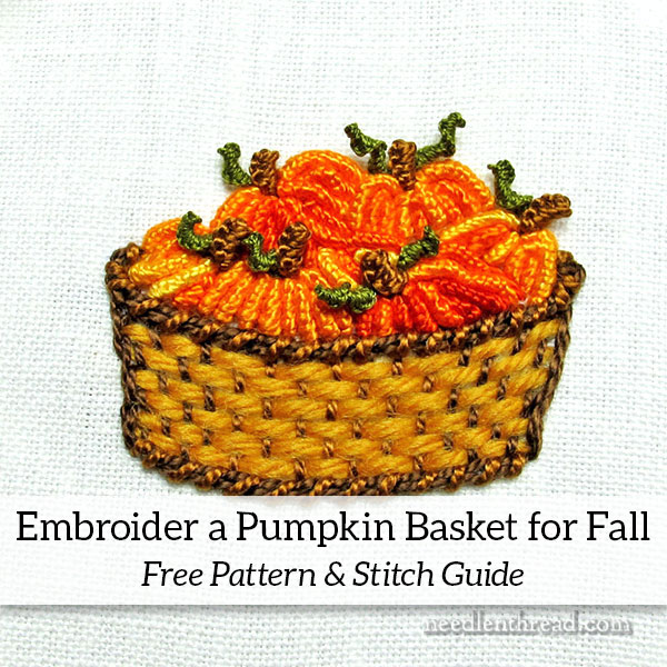 Pumpkin Basket for Hand Embroidery