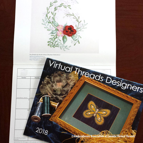 Virtual Threads 2018 Designers Calendar