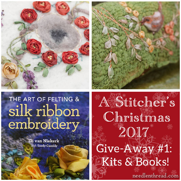 Di van Niekerk felt and silk ribbon embroidery kits & books