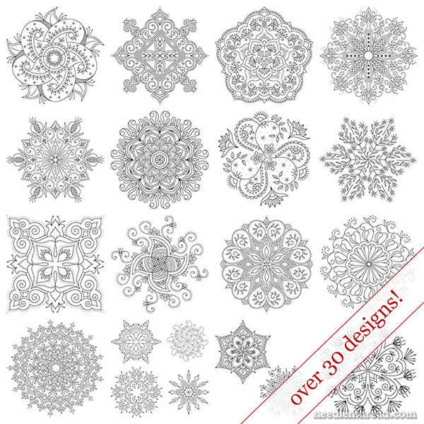 Kaleidoscope Designs for Hand Embroidery