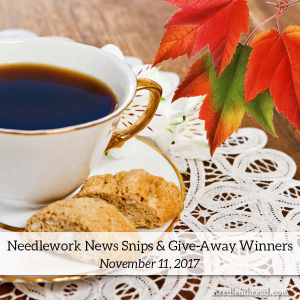 Needlework News Snips November 22, 2017