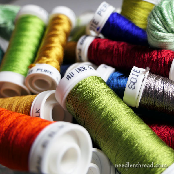 Silk Hand Embroidery Thread - Collection of different types of silk