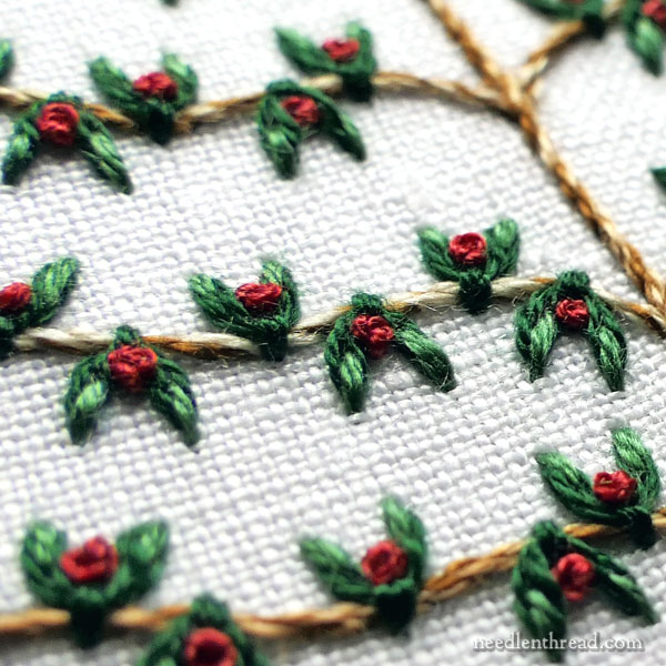 Embroidered Christmas Tree Series