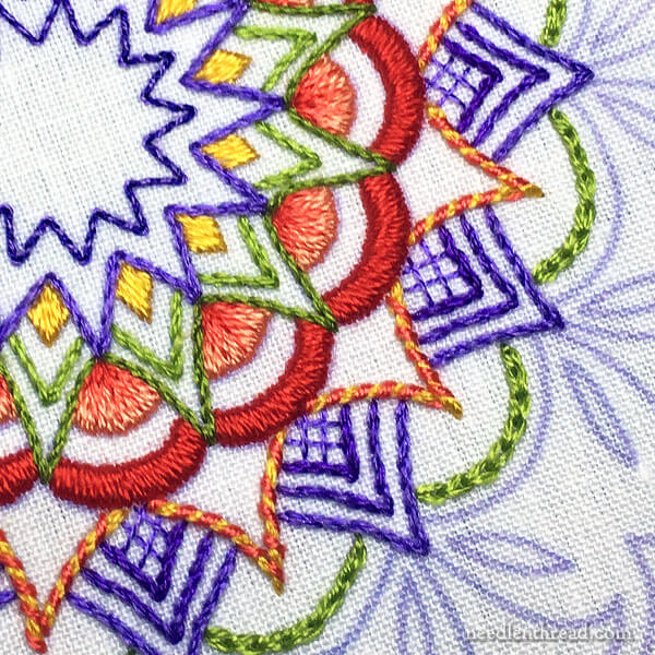 Tulip Festival: An Embroidered Kaleidoscope - Working Outwards