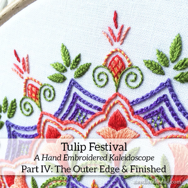 Tulip Festival Embroidered Kaleidoscope, Part IV