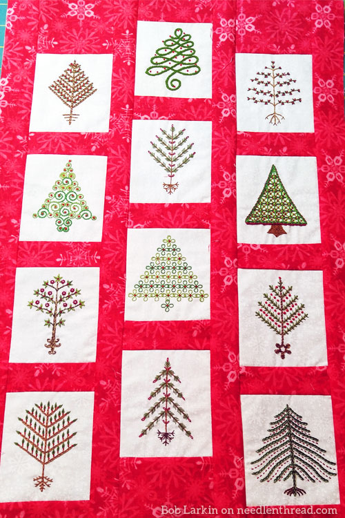 Reader's Embroidery: 12 Trees for Christmas wallhanging