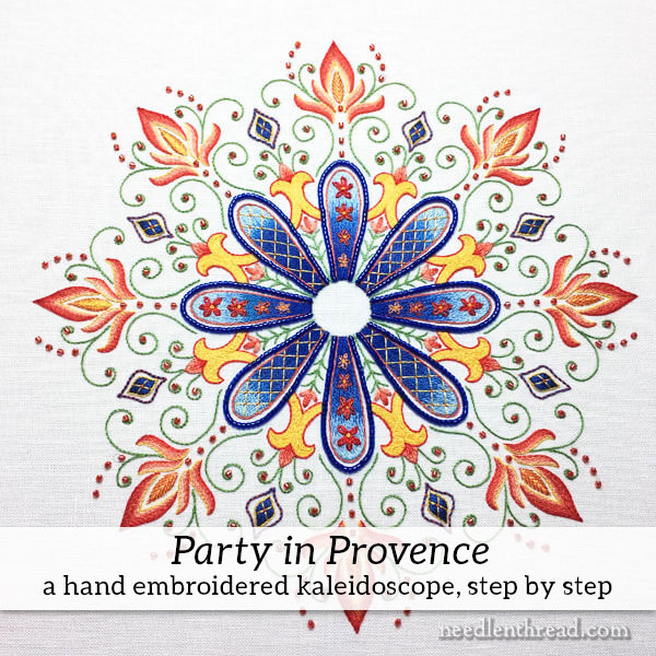 Party in Provence Embroidered Kaleidoscope Instructions: Introduction & Materials