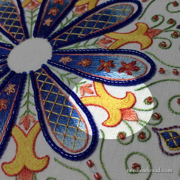 Party in Provence Embroidered Kaleidoscope - First Rounds, Layering, Order of Work