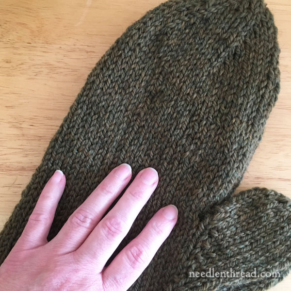 Hand Embroidery on Felted Wool Mittens