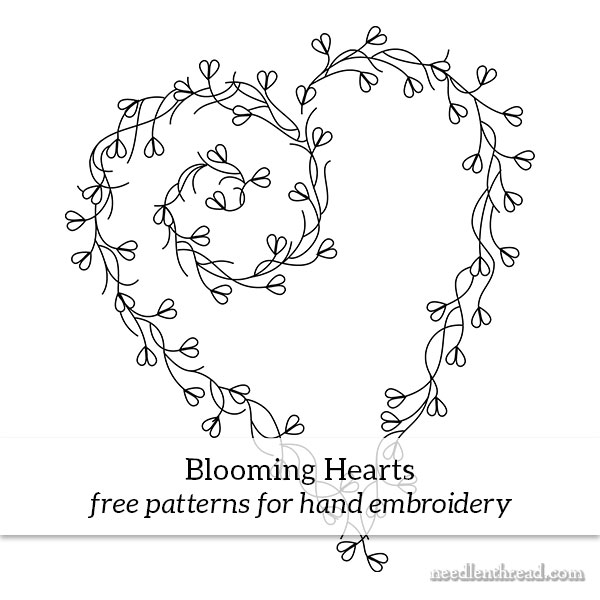 Blooming Hearts hand embroidery pattern