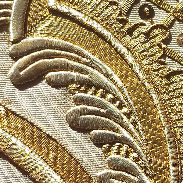 Silk Roses and Goldwork: Ecclesiastical Embroidery on chasuble