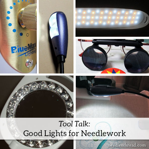 Lighting solutions for needlework