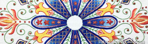 Party in Provence embroidered kaleidoscope