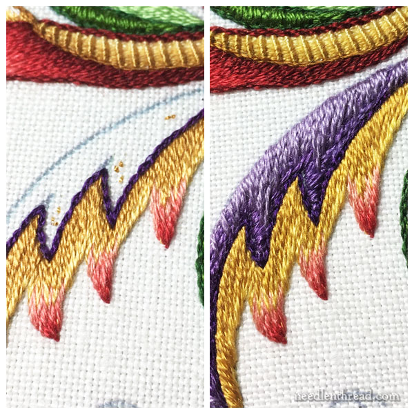 Embroidery Project with silk threads