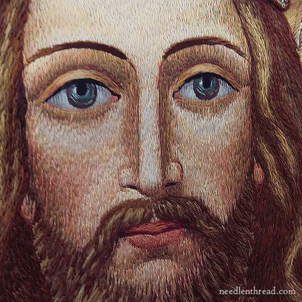 Ecclesiastical Embroidery: Christ embroidered on vestments