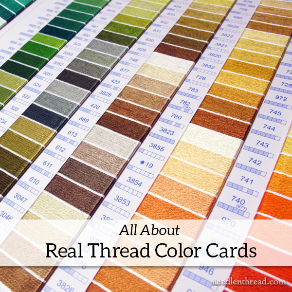 DMC Real Thread Color Card - how it works