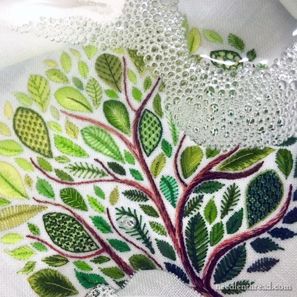 Leafy Tree Embroidery Sampler