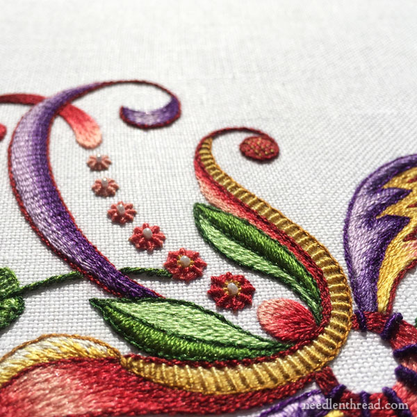 Embroidery projects from one extreme to the other