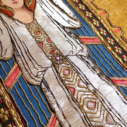 Christ and Angel - Embroidered Chasuble - Church Embroidery