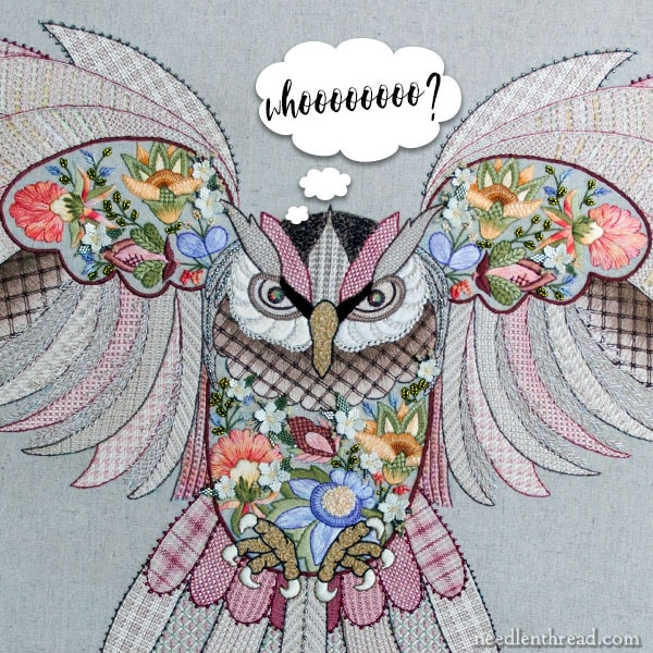 Maureen the Owl embroidery kit