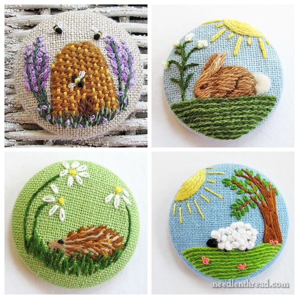 Embroidered Covered Buttons - Ideas for Using Them