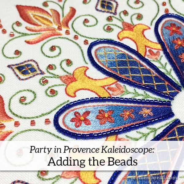 Adding Beads to Embroidered Kaleidoscope