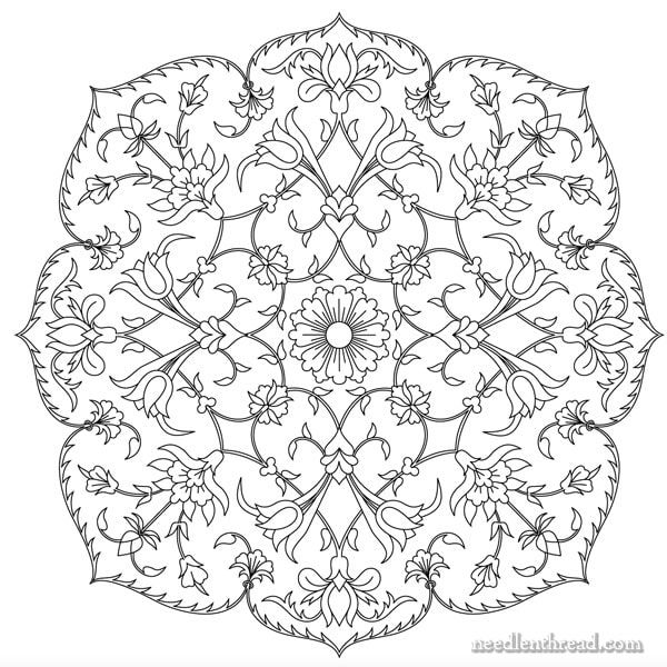Tulips Blooms Free Hand Embroidery Design Needlenthread