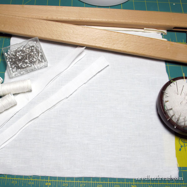 Setting up a Slate Frame for Goldwork