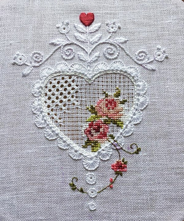 Schwalm Whitework stitched by Cathinka Hoff Strønstad