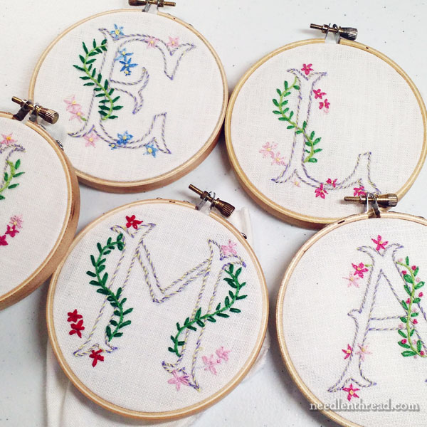 Kids' Embroidery Classes: Simple Monograms project