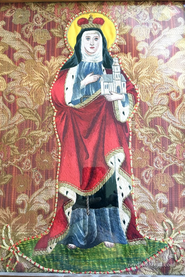 St. Hedwig Figure Embroidery