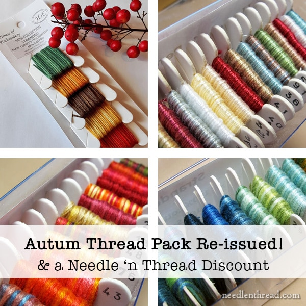 Autumn Embroidery Thread Pack & Needle 'n Thread Discount Information