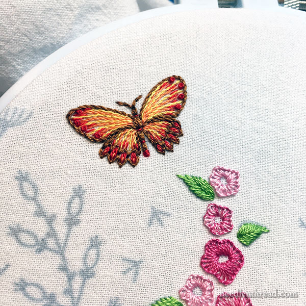 Embroidered Butterfly - Simple Design & Stitches