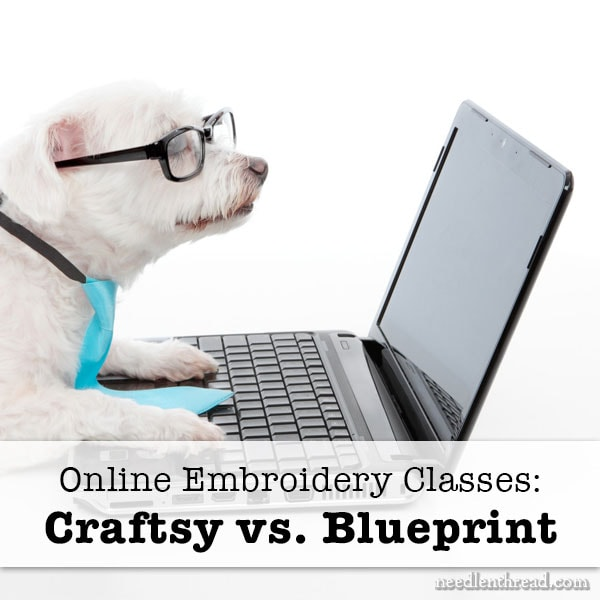 Craftsy vs Bluprint online embroidery classes