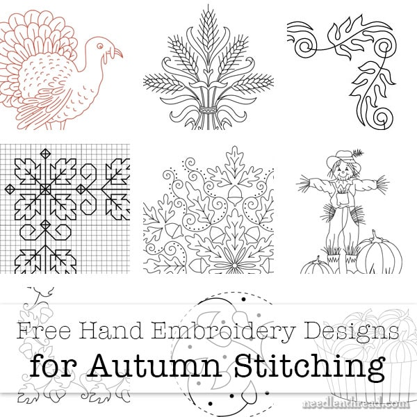 Free Fall Hand Embroidery Patterns