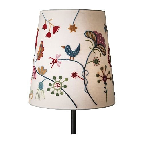 Folk embroidered lampshade from Ikea