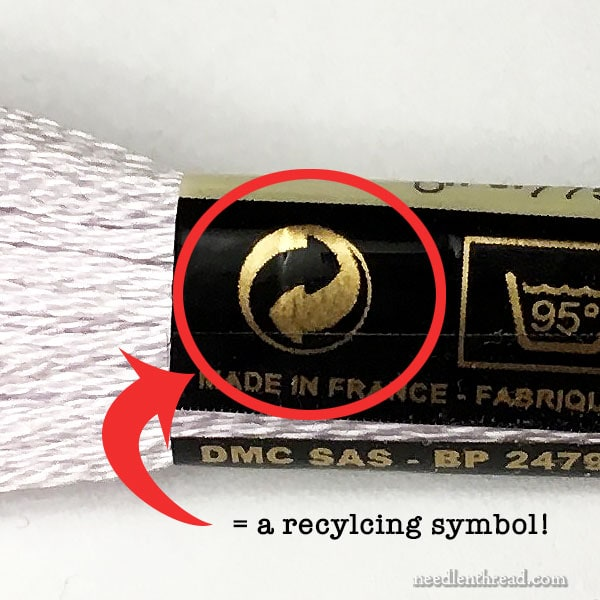 Recycling Symbol on Skein of Floss