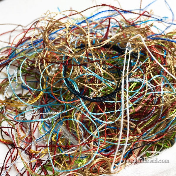 Pile of orts or thread scraps