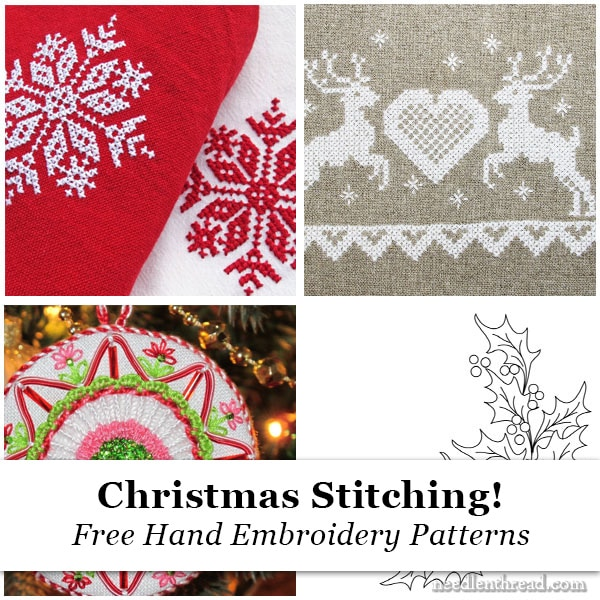 Christmas Embroidery Patterns Free.Christmas Stitching Free Hand Embroidery Designs