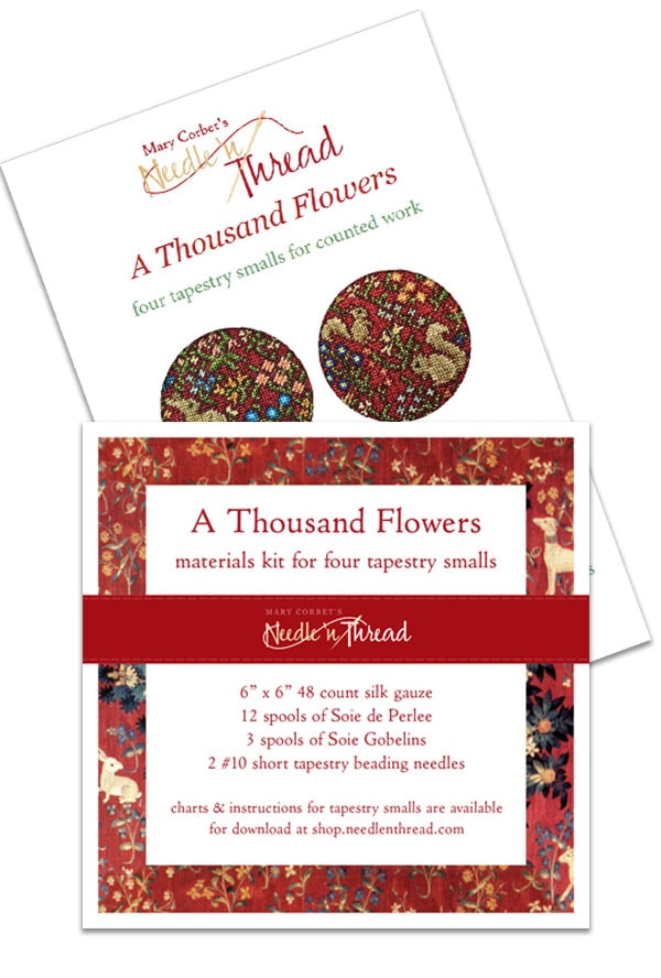 A Thousand Flowers: E-Book and Kit for Four Tapestry Smalls