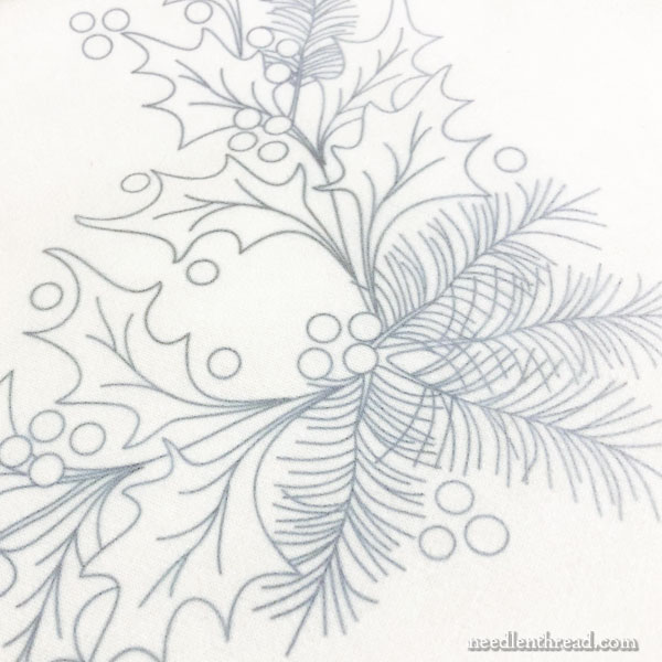 Holly & Evergreen Embroidery Design - Free Pattern & Stitch Tips