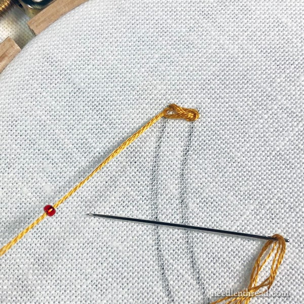 Stitch Fun Tutorial: Beaded Braid Stitch in Embroidery, version 1.0