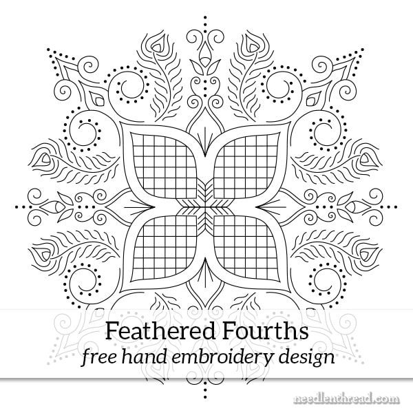 Feathered Fourths: A Free Hand Embroidery Design